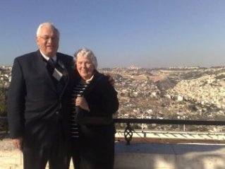Dr & Mrs Kaiser in Jerusalem